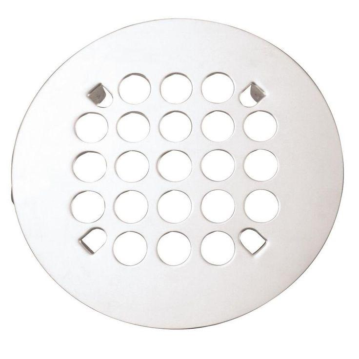 Westbrass Florestone Snap In Shower Strainer In Powdercoated White