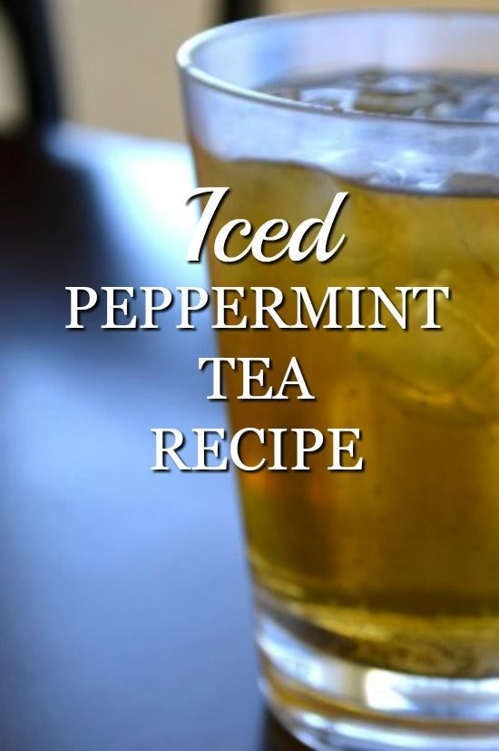 An easy iced peppermint tea recipe, soon to become your favorite refreshing summer drink.