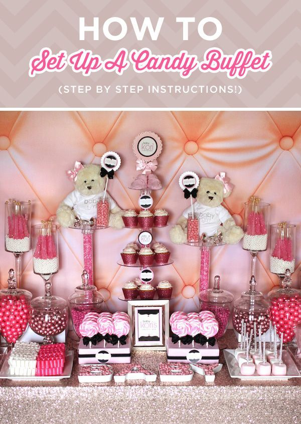 Top 25+ Best Pink Candy Table Ideas On Pinterest | Baby Shower Candy Table, Baby  Shower Treats And Baptism Dessert Table