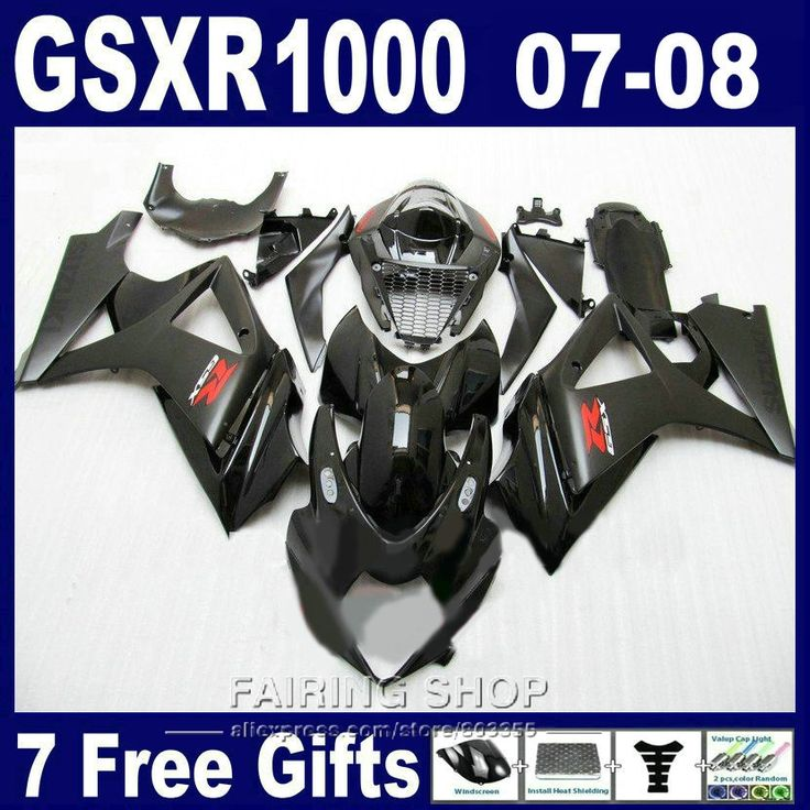 (344.10$)  Watch here - http://ai82a.worlditems.win/all/product.php?id=32780966877 - Hot sale moto parts fairings For Suzuki GSXR 1000 07 08 black fairing kit GSXR1000 2007 2008 PG87