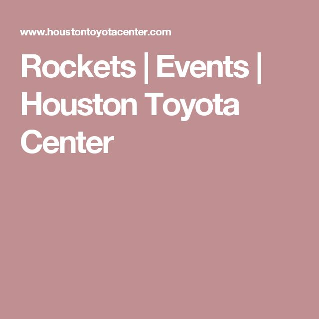 Rockets Tickets | Houston Toyota Center