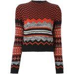 Kenzo Vintage geometric intarsia jumper