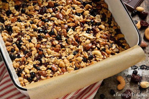 Nuts and Fruits Energy Bars {homemade KIND Bars} • a farmgirl's dabblesa farmgirl's dabbles