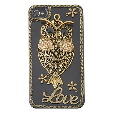 "Vintage Uil ""Love"" Patroon Zirkoon Hard Case voor iPhone 4/4S – EUR € 7.35"