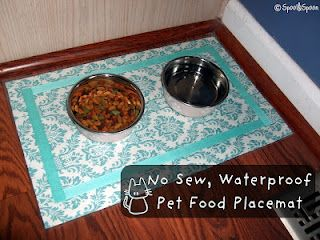 Spool and Spoon: No-Sew, Waterproof Placemats. Downsize for human placemats?