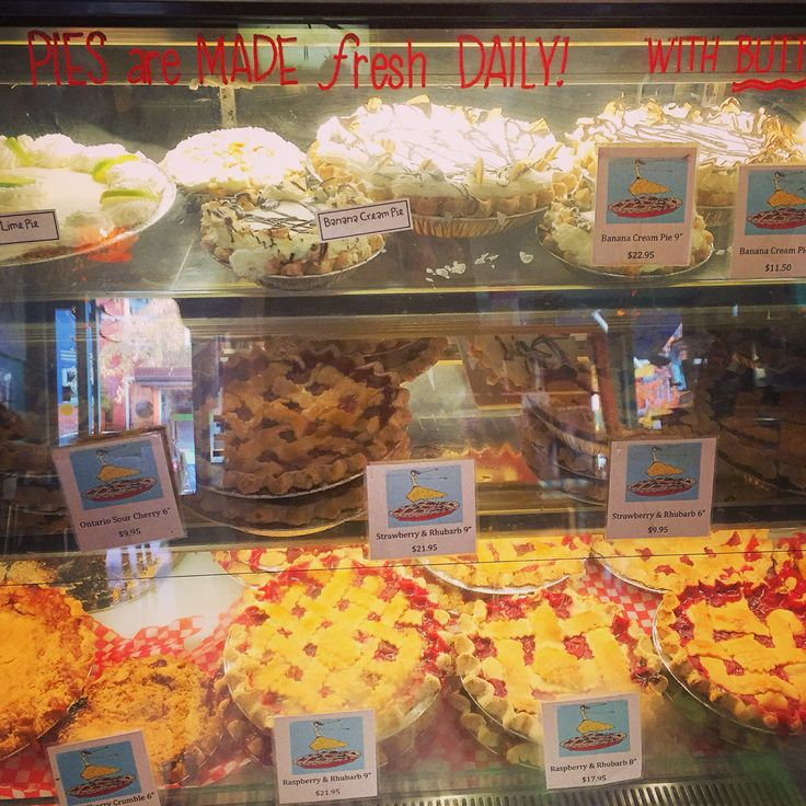 Today is a pie kind of day. Then again at Wanda's every day is pie day. I love all her local fruit ones especially sour cherry. I am a bit of a coconut cream addict as well. Which do you like?