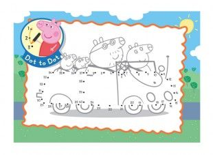 Peppa Pig dot to dot! Find lots more fun, free activities at iChild.co.uk