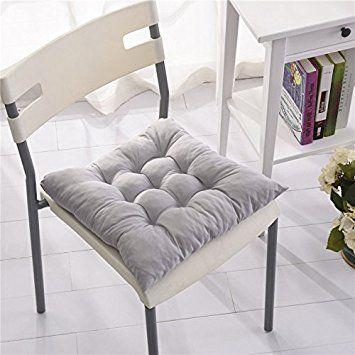 Amazon|椅子 クッション パッド チェア 座布団 通気性 イス ふかふか ... 椅子 クッション パッド チェア 座布団 通気性 イス ふかふか ダイニングチェア (グレー)