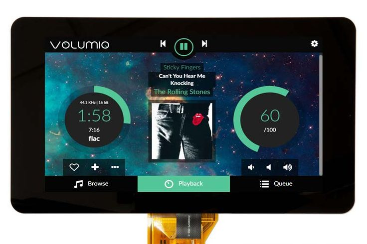 Use Volumio Audiophile music player with the Raspberry PI display, control playback via touchscreen and learn how to connect it.