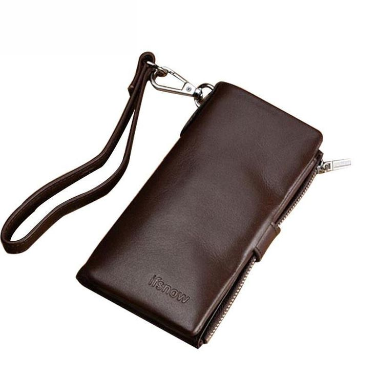 Multifunction 100% Leather Key Wallets Men Business Door & Car Keysmart Purse