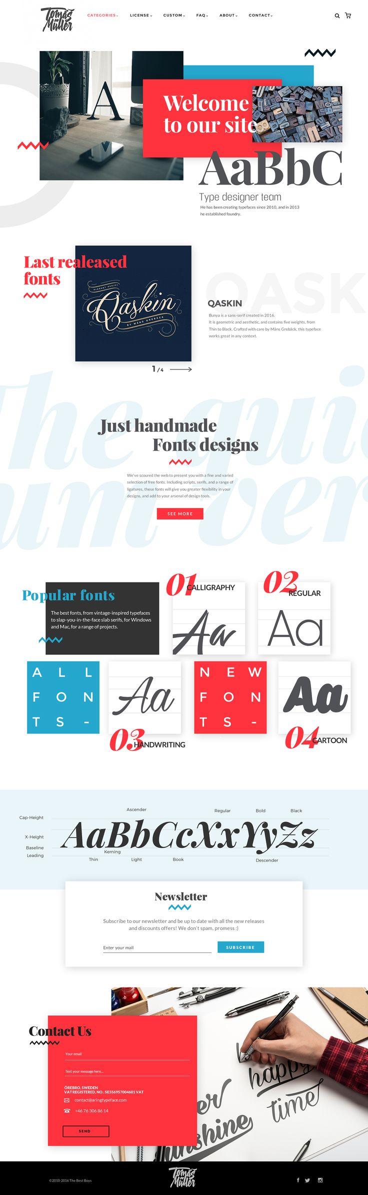 Typographer's website on Behance