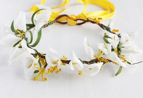 Flower Girl Crown Bridal Halo Headband Boho by HandyCraftTS, $27.00