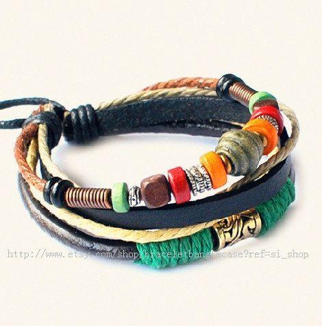 Fashion bangle leather bracelet men bracelet by braceletbanglecase, $8.00