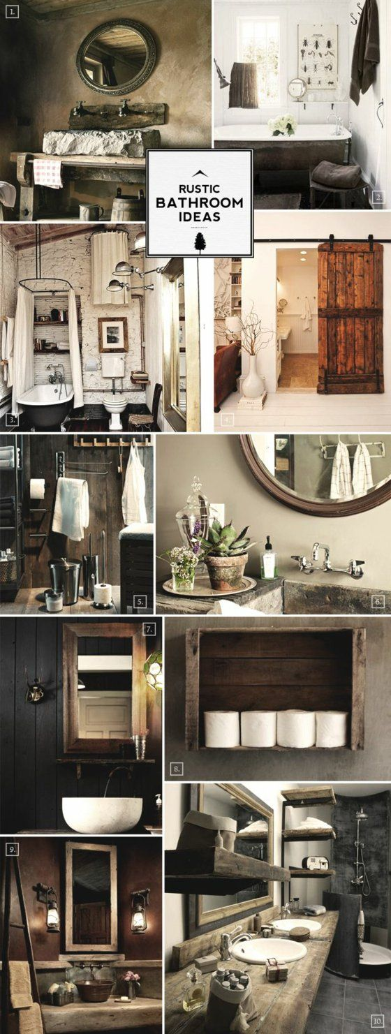 rustikale badm bel ideen das badezimmer im landhausstil einrichten badezimmer pinterest. Black Bedroom Furniture Sets. Home Design Ideas
