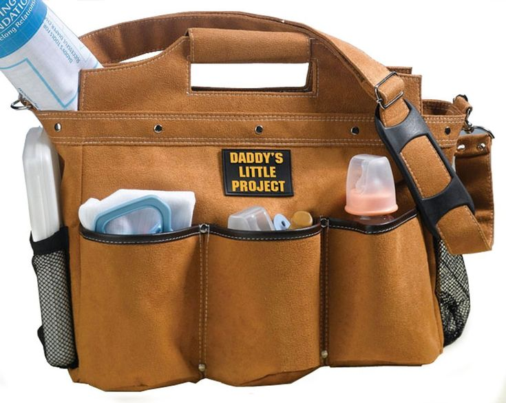 A selection of sporty and manly diaper bags that Dad will be proud to wear. Cool diaper bags for men that embrace his masculinity. No lace or frills here.