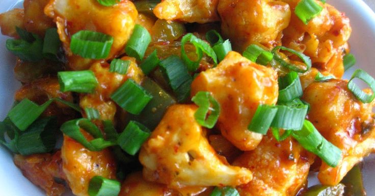 Ingredients: Cauliflower - 1 cut into bite size florets Green pepper - 1 cut into big chunks Green onions - 2 TBSP chopped For the ...
