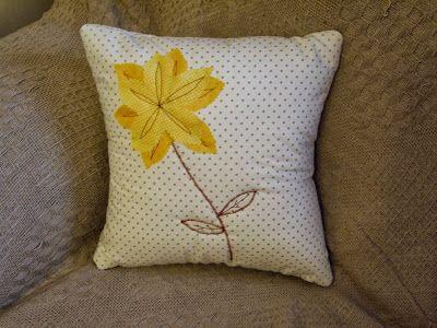 Handmade by Rebekah - flower power cushion cover