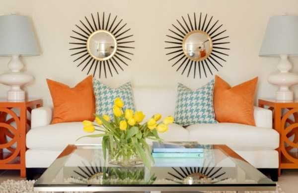 Bold Orange Color Accents, 25 Bright and Modern Interior Design Ideas