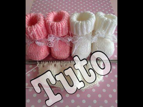 tuto tricot : chaussons bébé partie 1/3 - YouTube