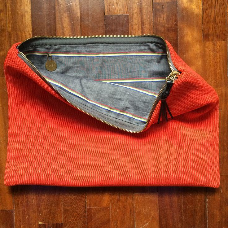 Orange cotton pochette