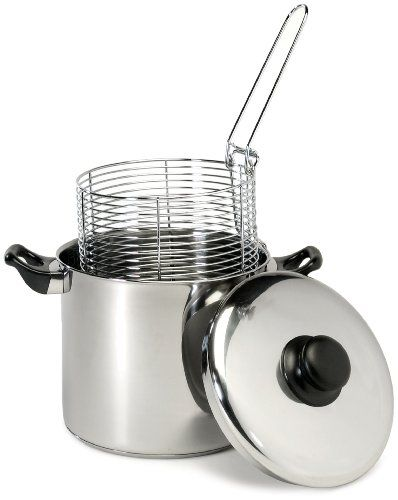 KapanAjah Mom: Small Appliances: Excelsteel 6 Quart Stainless Steel Stove Top Deep Fryer