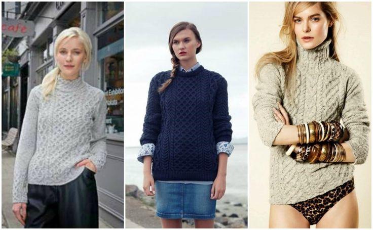 Intricate pattern knitwear