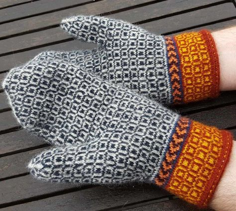 Twined knitted mittens - yarn from Wålstedts These are mittens that I finished yesterday. I used yarn from Wålstedts . I had some left-o...