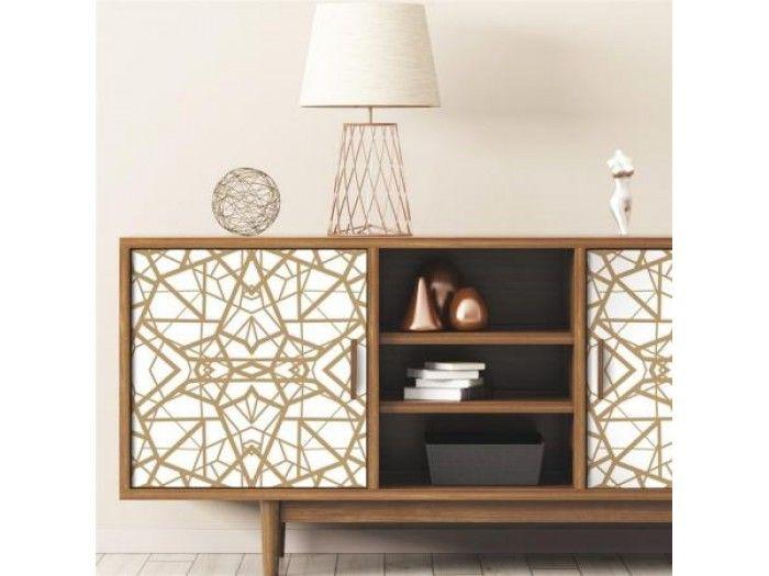 Aytokollhth Tapetsaria Shatter Geometric White Gold Peel Kal Rmk10687 Peel And Stick Wallpaper Room Visualizer Modern Color Schemes
