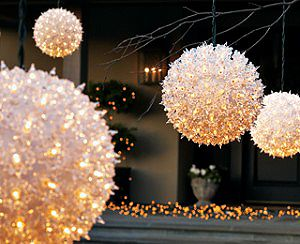 Starlight Spheres. Perfect to go with any wedding decor!