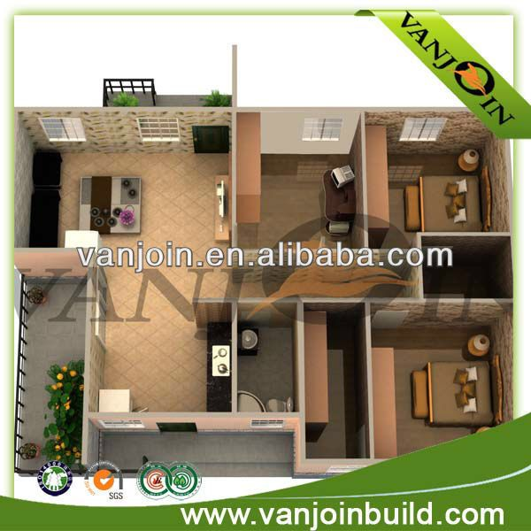 Good Low Cost And Fast Construction 100m2 Prefab House Plans
