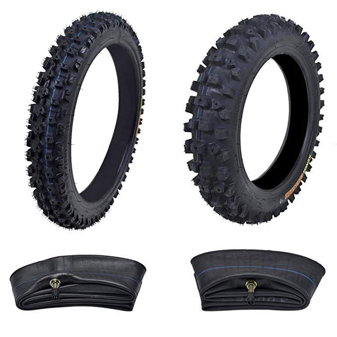 Kenda Tire Set Front Tire 60 100 14 With Inner Tube Rear 80 100 12 For Dirt Pit Bikes Dual Enduro Motocross Motorcycle Pit Bike Enduro Motocross Bike Tire