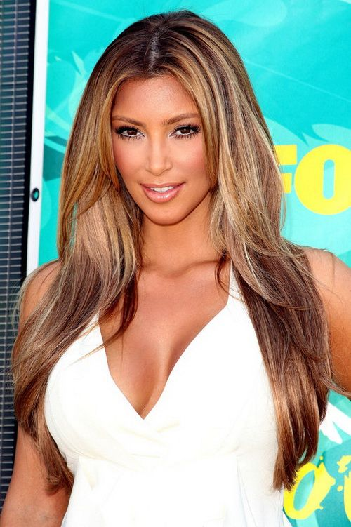 Kim Kadarshian Caramel Hair Color Celebrities Caramel Hair Color