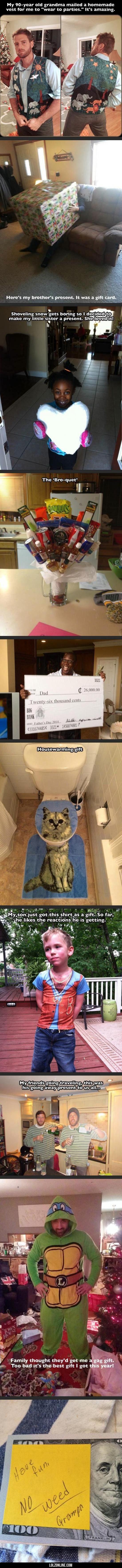 I knew you were here. I felt your presents. #lol #haha #funny