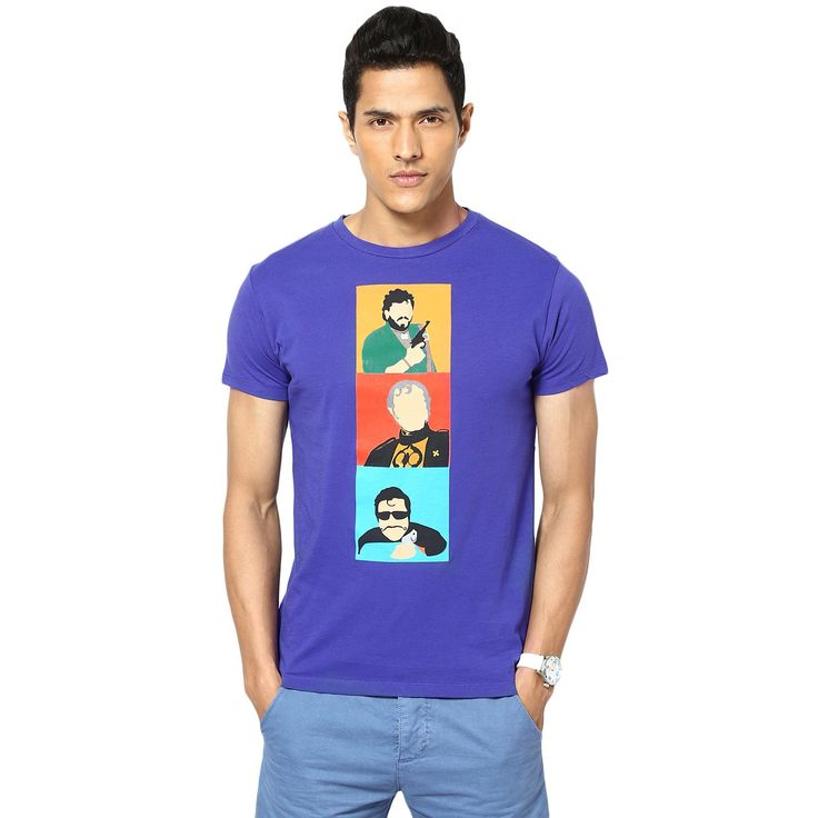 Made from the finest quality combed cotton, the garment is manufactured as per international quality standards and bio-washed to give it an ultra soft feel. Screen-printed using state of the art European technology.  DO NOT BLEACH. WARM IRON IF NEEDED. DO NOT IRON ON PRINT DIRECTLY. MACHINE WASH COLD WITH LIKE COLORS. TUMBLE DRY LOW. Rs. 599.00