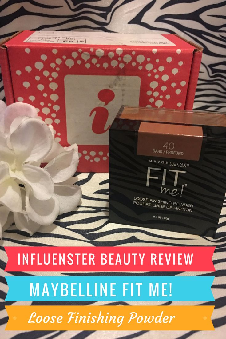 Influenster beauty review maybelline fit me loose