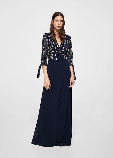 e000f441dc68 MANGO Long Embroidered Vestido Beritas-A Dress Size UK14  fashion  clothing   shoes  accessories  womensclothing  dresses (ebay link)
