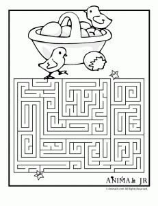 easter maze 231x300 Printable Easter Mazes