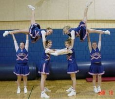 junior cheer stunts - Great for beginners!