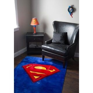 Shop for Superman 4'X6' Rug. Get free delivery at Overstock.com - Your Online Men's Clothing Shop! Get 5% in rewards with Club O! - 20809727