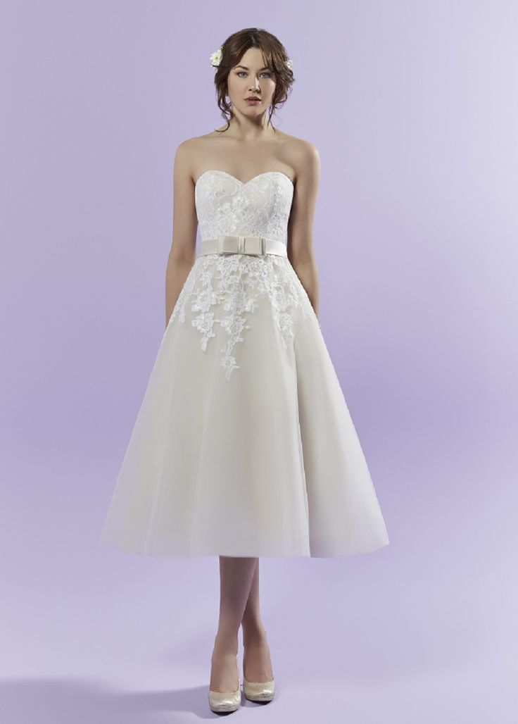 Winnie by Romantica of Devon: Standesamt Kleid 50s Look Knielang