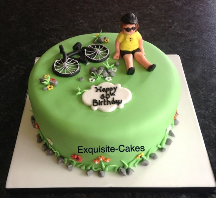 Th Birthday Cake With Bicycle