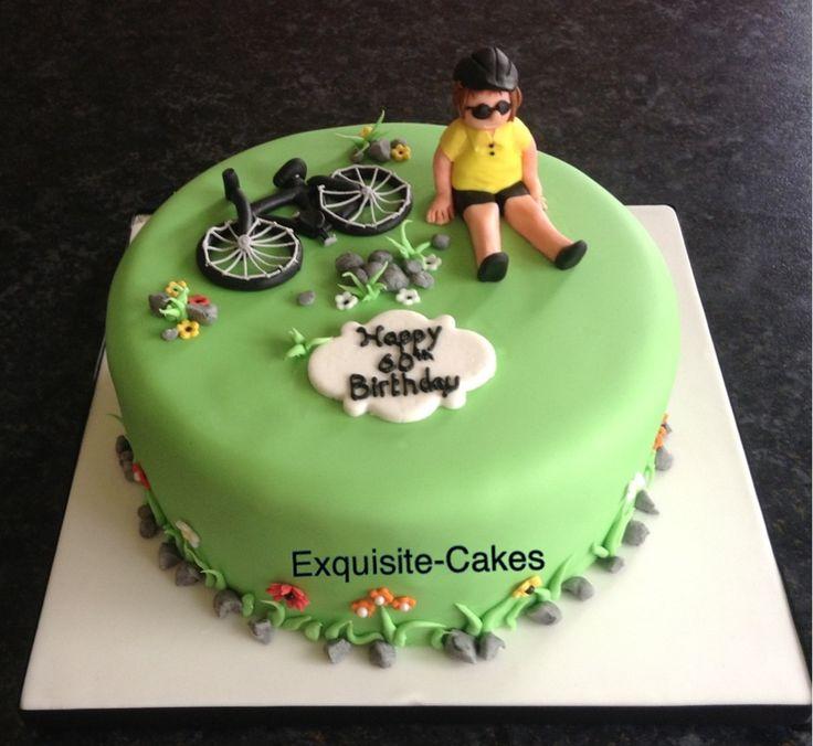 Cycling Birthday Cake Decorations