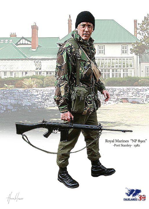"Royal Marines ""NP8901"" Port Stanley Falkland 1982"