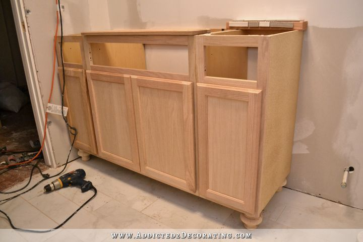 Furniture Style Bathroom Vanity Made From Stock Cabinets Part 1 Furniture Style And Vanities