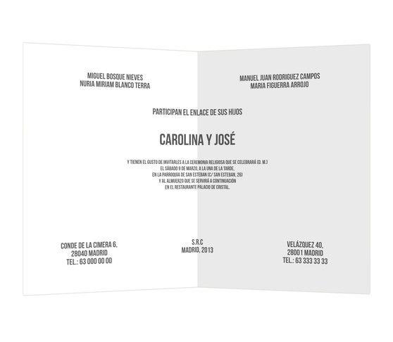 Cara o cruz - #invitación clásica para #boda