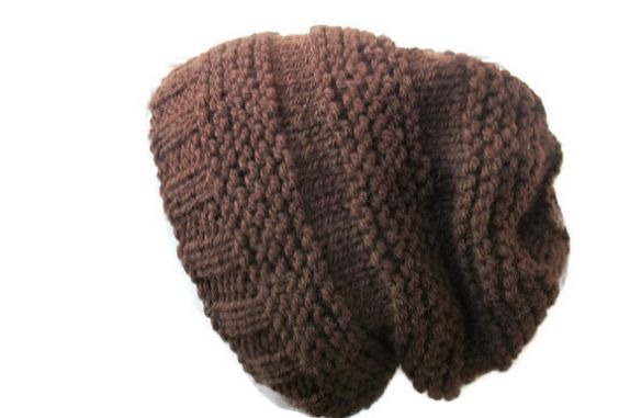 Beehive Hat, Hand Knit Beanie, Unisex