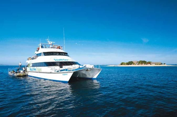 Fiji Island Catamaran Transfers to Denarau  Getting from your Fiji island resort has never been easier, with a transfer by  high-speed catamaran to Port Denarau Marina.       Make getting from your Fiji island resort to Port Denarau easy with a high-speed catamaran  transfer.  For those staying in Nadi or Denarau a complimentary shuttle bus service drops off to most hotels throughout the day.  Islands to Port Denarau Marina The f...