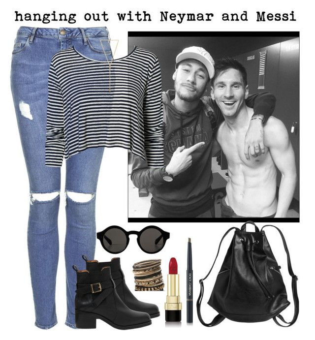"""""""hanging out with Neymessi"""" by futbol-baes ❤ liked on Polyvore featuring Topshop, Carvela Kurt Geiger, Monki, Wet Seal, NLY Trend, Ettika, Dolce&Gabbana, fcb, messi and neymar"""