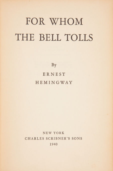 an analysis of the novel for whom the bell tolls by ernest hemmingway For whom the bell tolls: an introduction to and summary of the novel for whom the bell tolls by ernest hemingway.