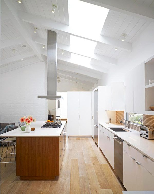 Montalba Architects mid century modern house - ceiling and flooring.